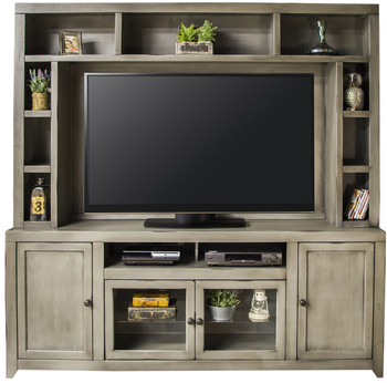 "Maverick Grey 85"" Entertainment Center"