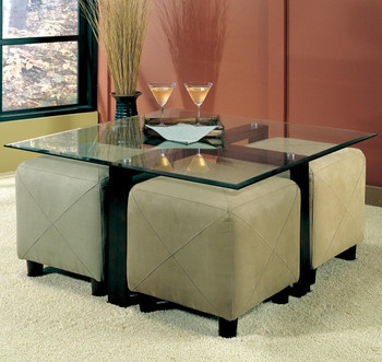 Greer Brown Storage Ottoman