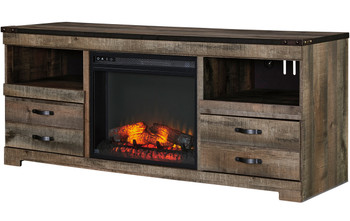 """Benni 63.4"""" Wide TV Stand with Fireplace"""