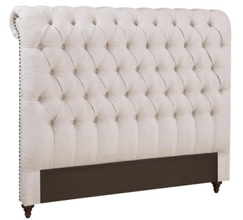 Yuki Beige Fabric Tufted Headboard