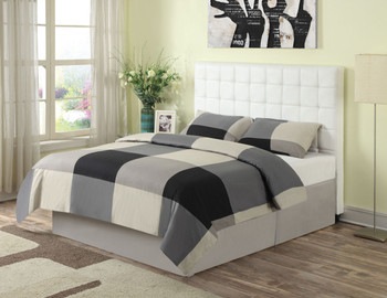 Zephyrus White Leather Headboard