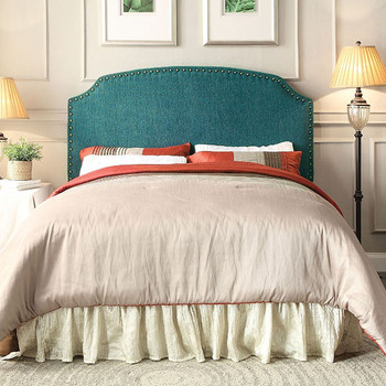 Xanti Teal Full & Queen Headboard with Nailheads