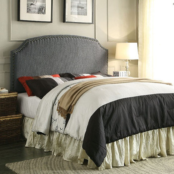 Xanti Gray Full & Queen Headboard with Nailheads