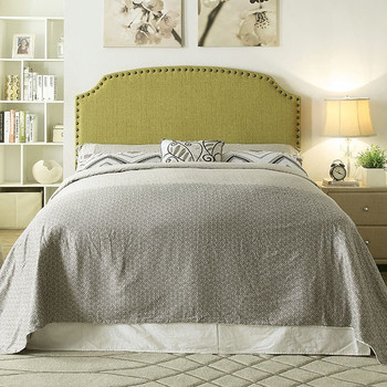 Xanti Green Full & Queen Headboard with Nailheads