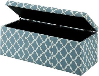 Fusion Blue Storage Bench