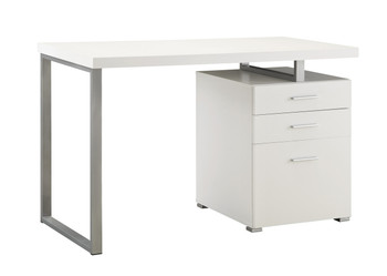 IVA 47'' Wide White Desk with File Cabinet