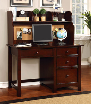 CONNIE 48'' Wide Valden Cherry Desk & Hutch W/Built In Corkboard
