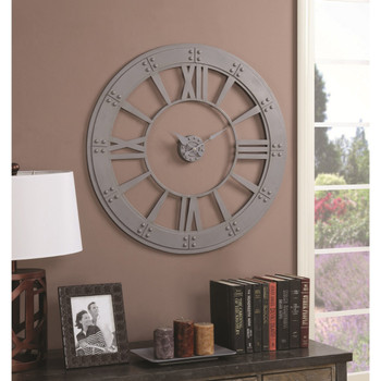Moonshadow Gray Wall Clock