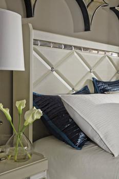 Rizvon Champagne Headboard Bed