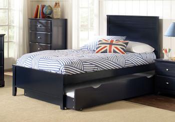 Aldo Blue Platform Bed with Trundle