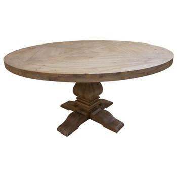 Callum 5 Pc Round Dining Set with Beige Chairs