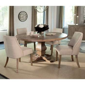 "Callum 60"" Wide Round Dining Table"