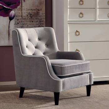 Conall Gray Accent Chair