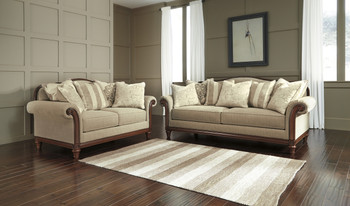 Cecily Beige Loveseat