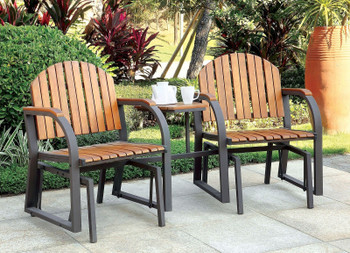 "Adriel 77"" Wide Rocking Chair Set"