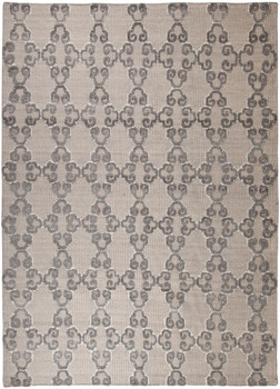 Patterned Gray 8' x 11' Bamboo Rug