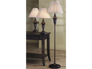 Dark Brown 3-PC Lamp Set