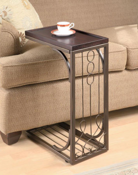 Brown/Burnished Copper Snack Table