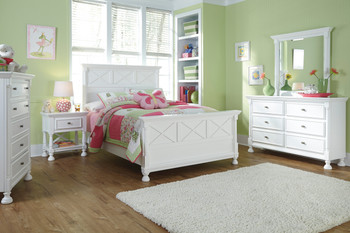 Lilet White Bed