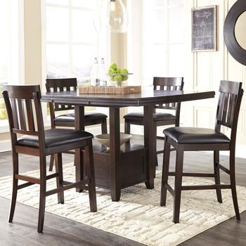 NELA Dark Brown 5 Piece Counter Height Dining Set