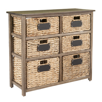 Cortinella Coastal 6-Drawer Storage