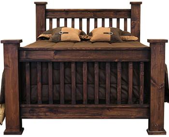 Wesley Rustic Dark Brown Poster 7-PC Bedroom Set