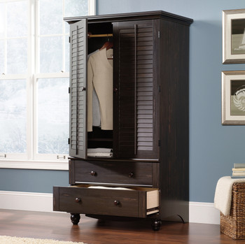 "PORTO ALEGRE Black 39"" Wide Armoire"
