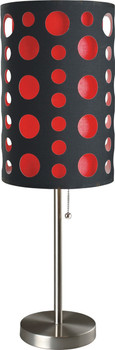 """Etro Red 30""""H Table Lamp"""