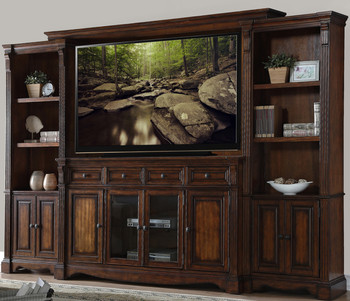 "Jeffery Hazelnut 72"" Wall Unit"