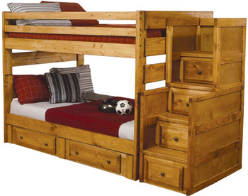 Chuck Full Stairway Bunk Bed