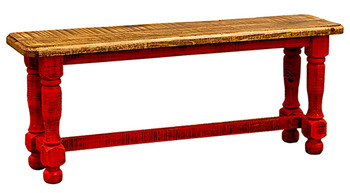 Provencia Red Rustic Dining Bench