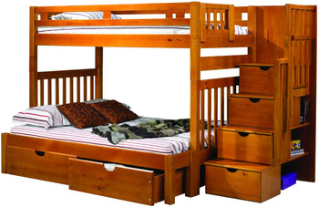 Boulder Twin over Full Stairway Bunk Bed