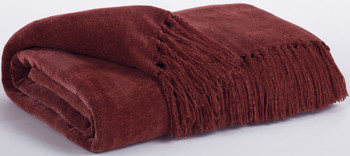 Delia Burgundy Decorative Throw