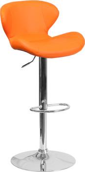 ARCHIE Orange Swivel Barstool