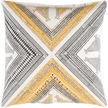 Designer Yellow Throw Pillow