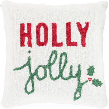 Designer Holly Jolly Throw Pillow