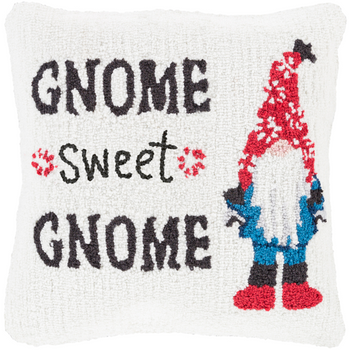 "Designer ""Gnome Sweet Gnome"" Pillow"