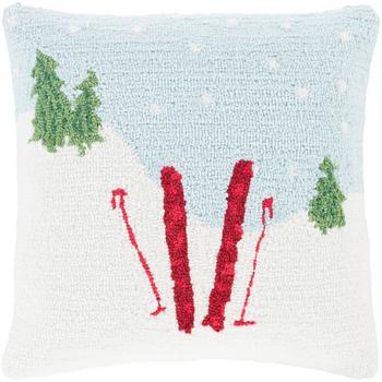 Designer Snow Throw Pillow