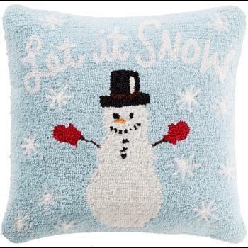 Designer Snow Blue Pillow