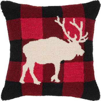 Designer Moose Throw Pillow