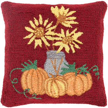 Designer Pumpkins Red Pillow