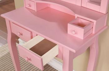 KEONA Pink Vanity with Stool
