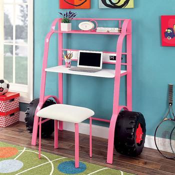 Friso Pink Desk w/Stool
