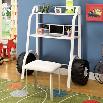 Friso White Kids Desk w/Stool