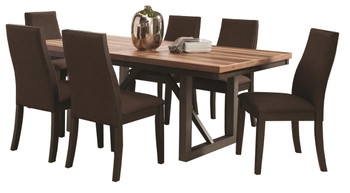 Amos Natural/Espresso Dining Table
