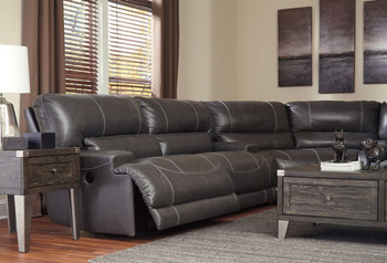Admiral Top-Grain Leather Reclining Sectional