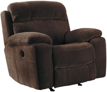 Jaise Brown Recliner with Adjustable Headrest