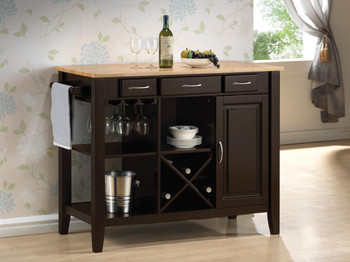 Butcher Cappuccino Kitchen Island