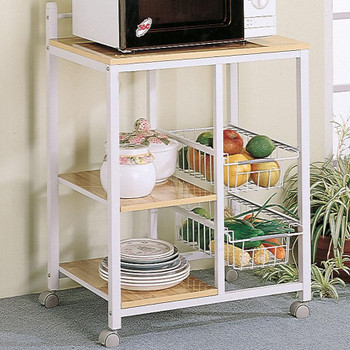 Sandra White & Oak Kitchen Cart
