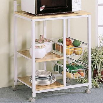 Sandra White & Oak Kitchen Cart